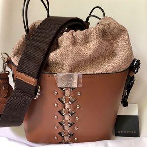NWT CROMIA Kimani Italian Leather Handbag